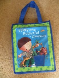 x9 Brand new Harry & his bucketful of dinosaurs books with collectors bag