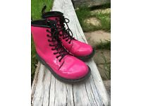Pink patent DM boot (UK size 1)