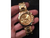 Gold Rolex watch Daytona, NEW full gold 40mm