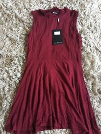 Burgundy dress from misguided size M/L