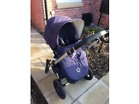 Bugaboo Cameleon 3 Navy and Quilted Cream Ex condition