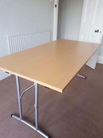 Beech effect office folding table 1600mm