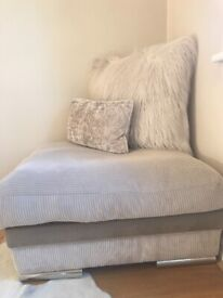 Large square footstool