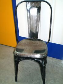 Tolix Style aged Metal Dining Chair
