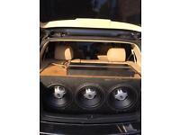 3x JBl Subwoofers + 3500 Sundown Amp complete set