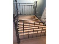 """Dreams """"Double 4'6"""" Metal Bed Frame & 2 x """"Ikea"""" Side-Cabinets"""