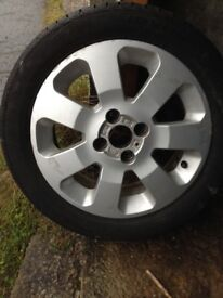 "Corsa c sxi 15"" alloy and tyre"