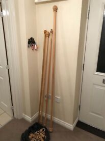 Wood curtain poles £25 the lot can deliver if you live local call 07812980350