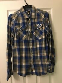 G Star Raw Men's Checkered Shirt large