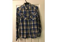 G Star Raw Men's Checkered Shirt large