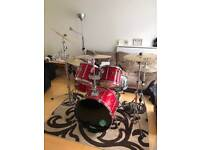 Red Mapex Drum Kit