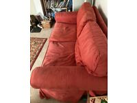 Red 2 seater sofa £50 ono