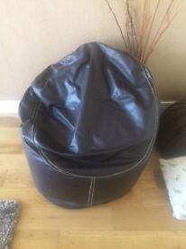 Chocolate brown armchair style bean bag great cond