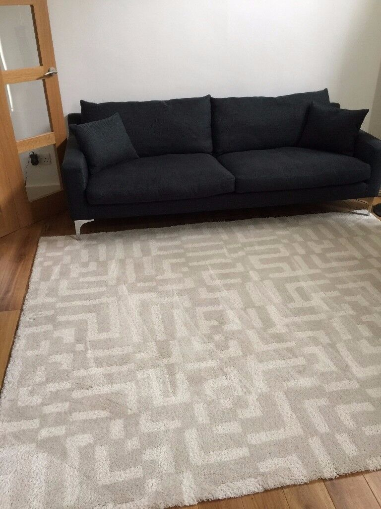 Ikea Fakse Rug Off White Geometric In Notting Hill