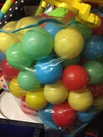Child's ball pool and balls