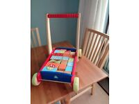 Early Learning Centre Baby Walker with a Variety of Wooden Blocks