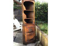 Webber oak corner cabinet