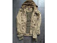 Fleece lined hooded parka jacket size 12