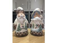Christmas Mr + Mrs Claus Ceramics