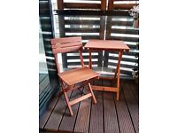 Bistro Wooden Table and Chairs