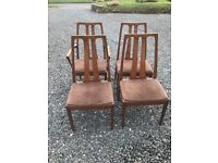 Vintage dining room chairs x4