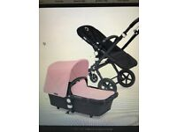 2nd hand Bugaboo - Amazing mint condition limited edition black frame pram - pink & Black