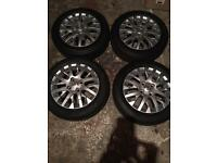 Toyota alloy wheels and tyres