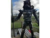 Predator metal sculpture