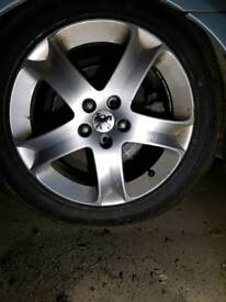 "Peugeot 17"" 407 alloys wheels"