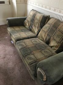 Fabric chesterfield style Sofa two seater 2 seater settee