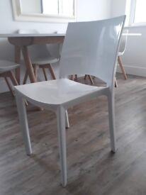 4 x Habitat Verne Dining Chair White