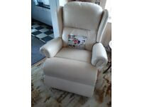 Electric recliner/riser leather armchair - excellent condition