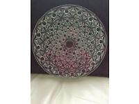 Vintage French Crystal Glass Platter