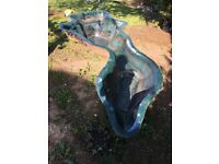 11ft Green fibreglass shaped pond.