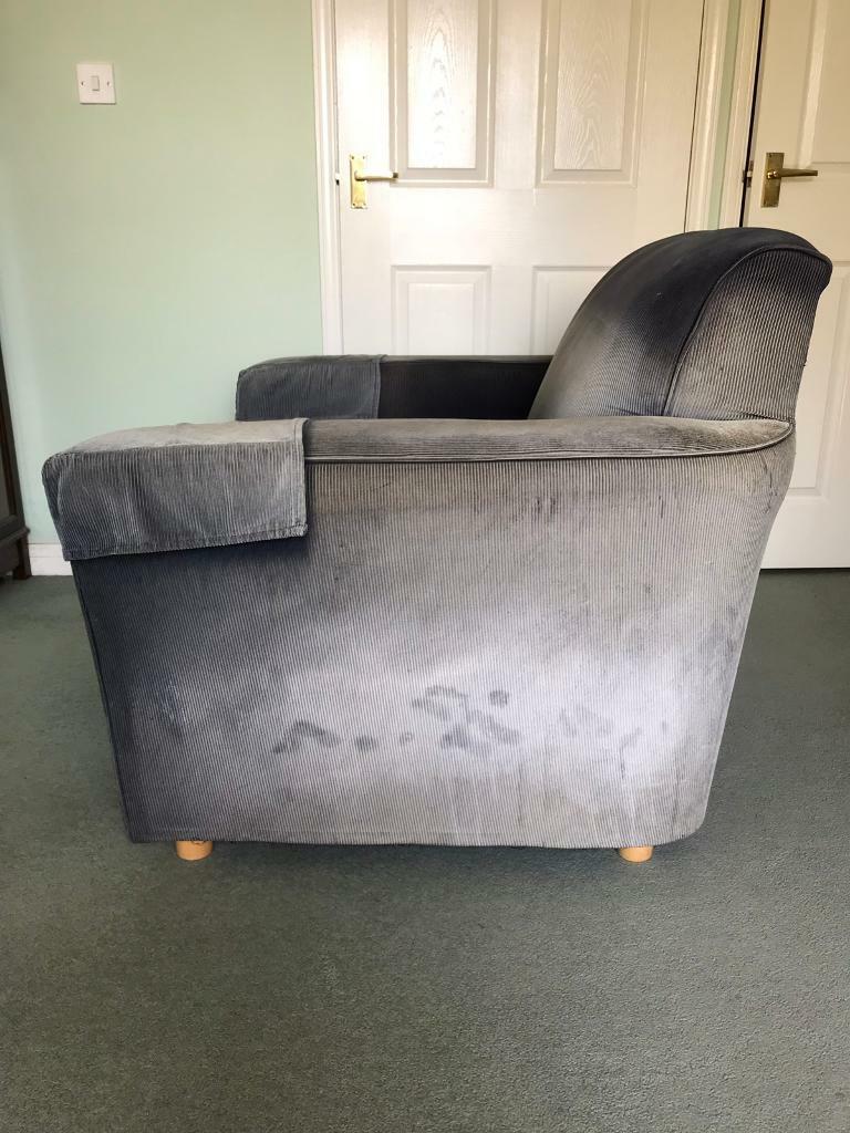 Habitat blue cord armchair | in Mere, Wiltshire | Gumtree