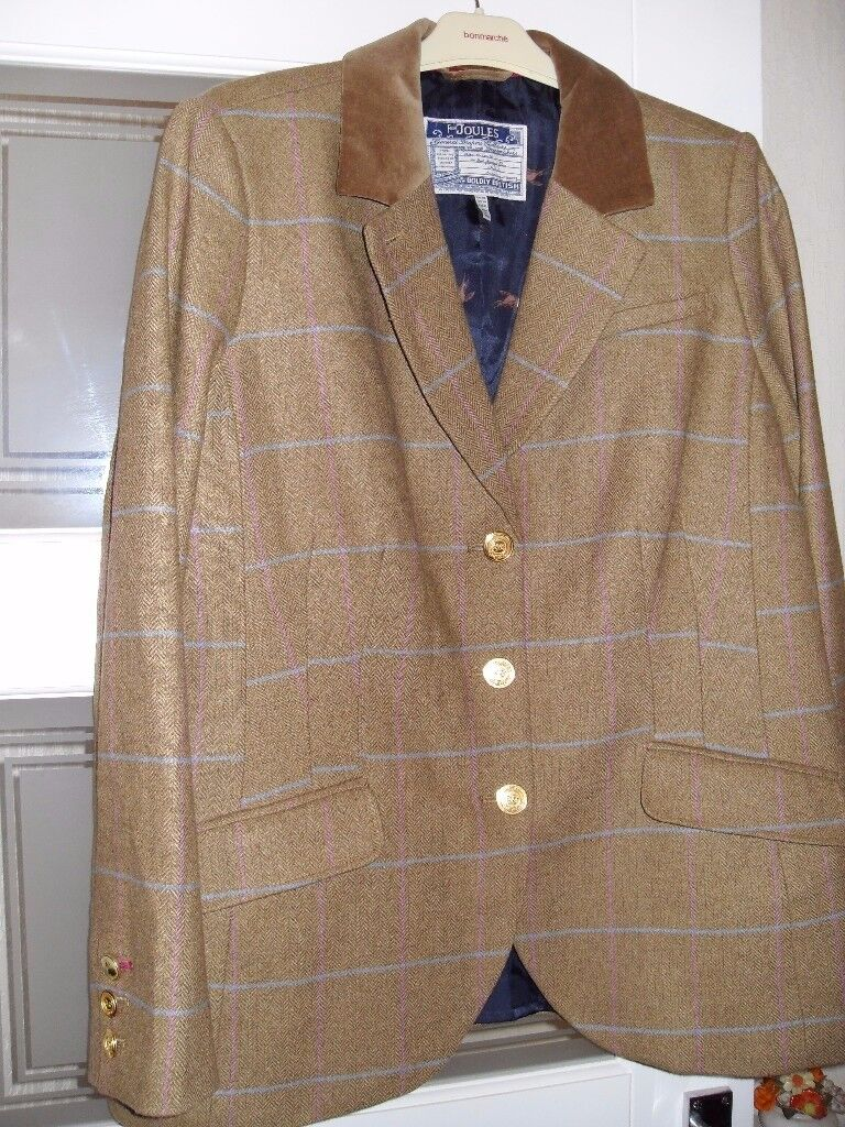 JOULES ARABELLA TWEED LADIES HACKING JACKET SIZE 18