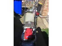 Honda hr194qn petrol lawnmower. Electric start or pull start. Used condition but a good runner.