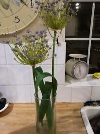 Artificial decorative flowers.