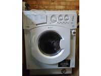 Hot point integrated washer dryer