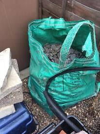 Large bag of decorative slate