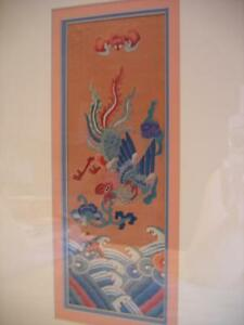 FRAMED ANTIQUE CHINESE SILK EMBROIDERY