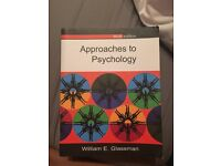 Approaches to Paychology 3rd edition - great condition, £7
