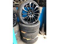 "4 24"" alloy wheels alloys rims tyres fan wheels 5x120 to fit bmw land Range Rover"