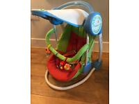 Babyplay battery powered rocker with canopy lights