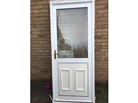White Rear Door (Double Glazed)