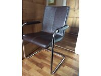 John Lewis Brown Leather Office Chair (RRP £349)