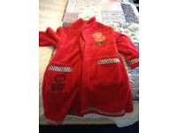 Disney Lighting McQueen House Coat/Dressing Gown Size 5-6