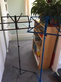 2 folding music stands