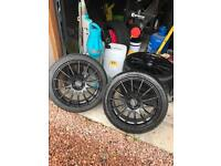 """17"""" 4x100 FOX Alloys - With 4 new tyres"""