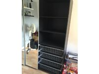 IKEA mirrored black 3 door wardrobe